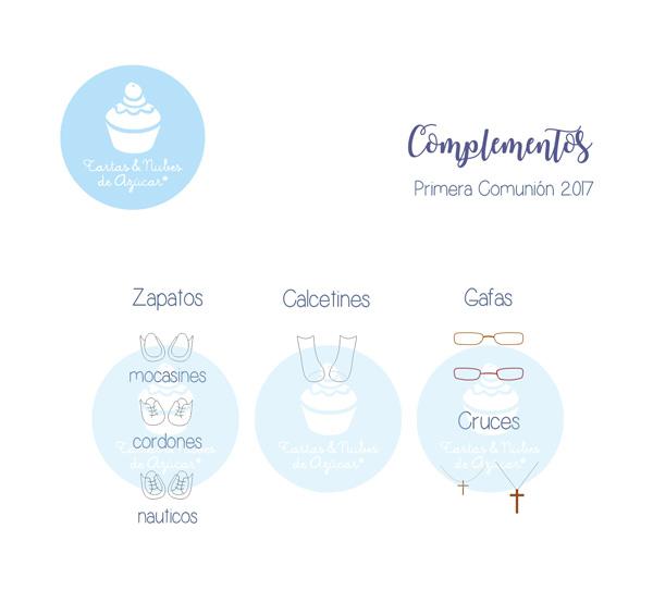 Complementos para  Recordatorios Personalizados Primera Comunión para niños 2017