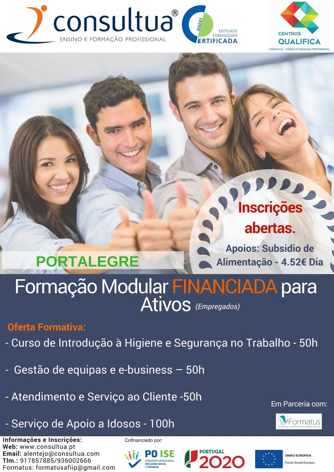 Formação financiada para ativos em Portalegre