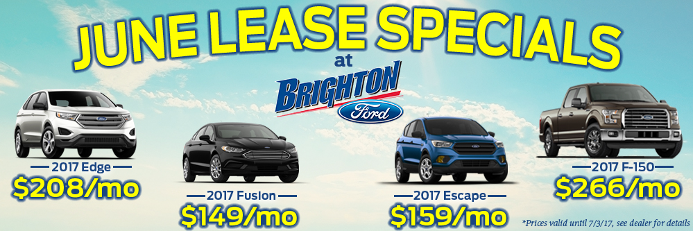 Brighton Ford New Car June Specials At Brighton Ford