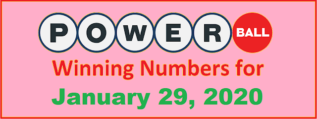 PowerBall Winning Numbers for Wednesday, January 29, 2020