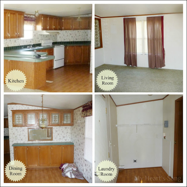 My Heart's Song Our Mobile Home Before & After