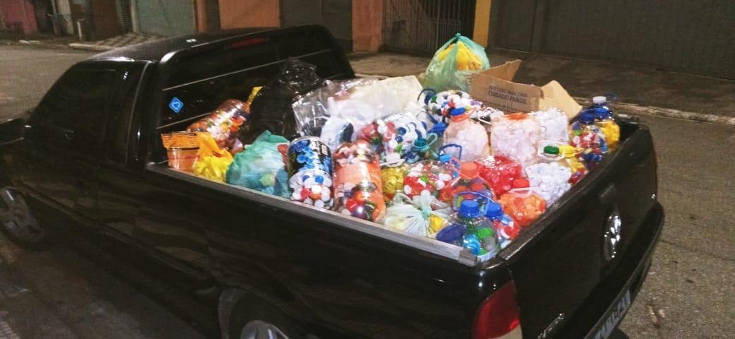 O GUAPA retirou os últimos lotes de tampas plásticas da sede do Seja Hoje Diferente!