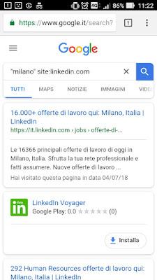 Trucchi google cercare lavoro