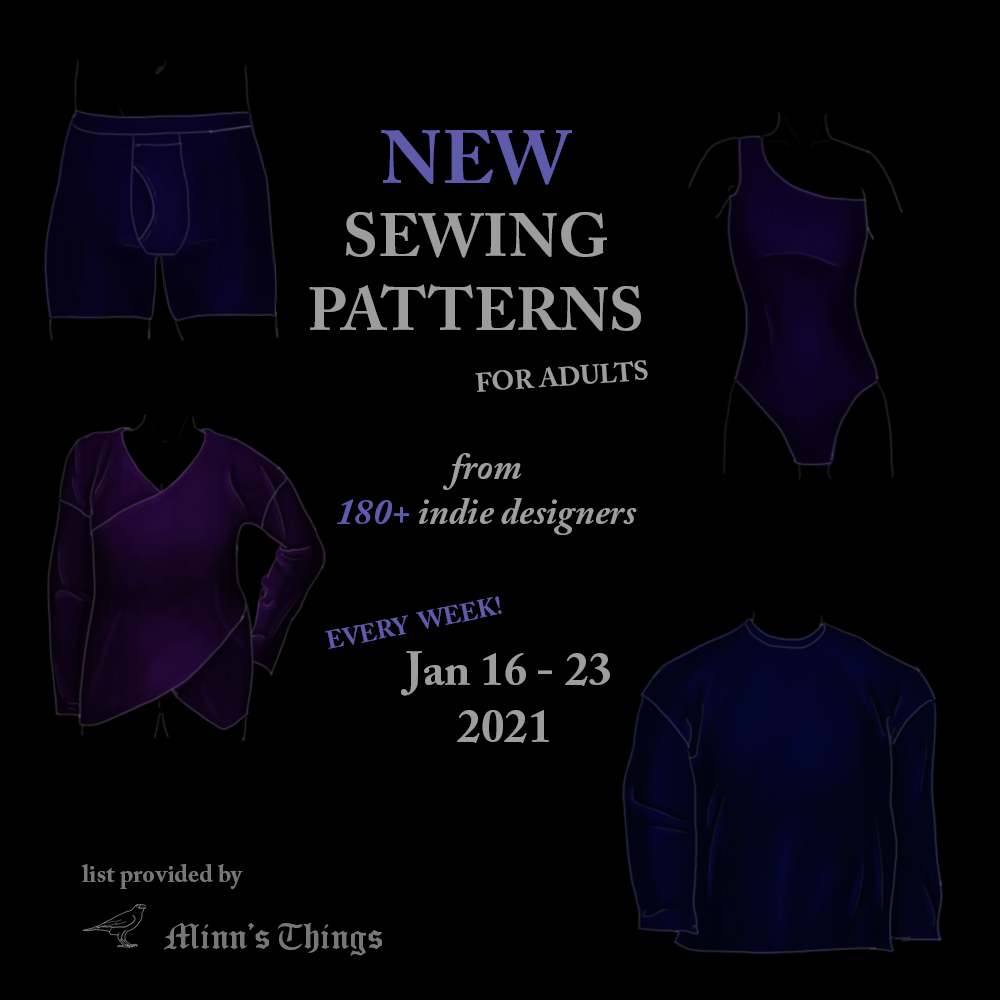 new releases indie designers adult sewing patterns 2021 january list women men ellie & mac common stitch edgewater avenue made for mermaids common itch to stitch helen's closet 5 out of 4 sew over it sewera