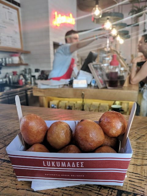 Loukoumades donuts in Athens, Greece