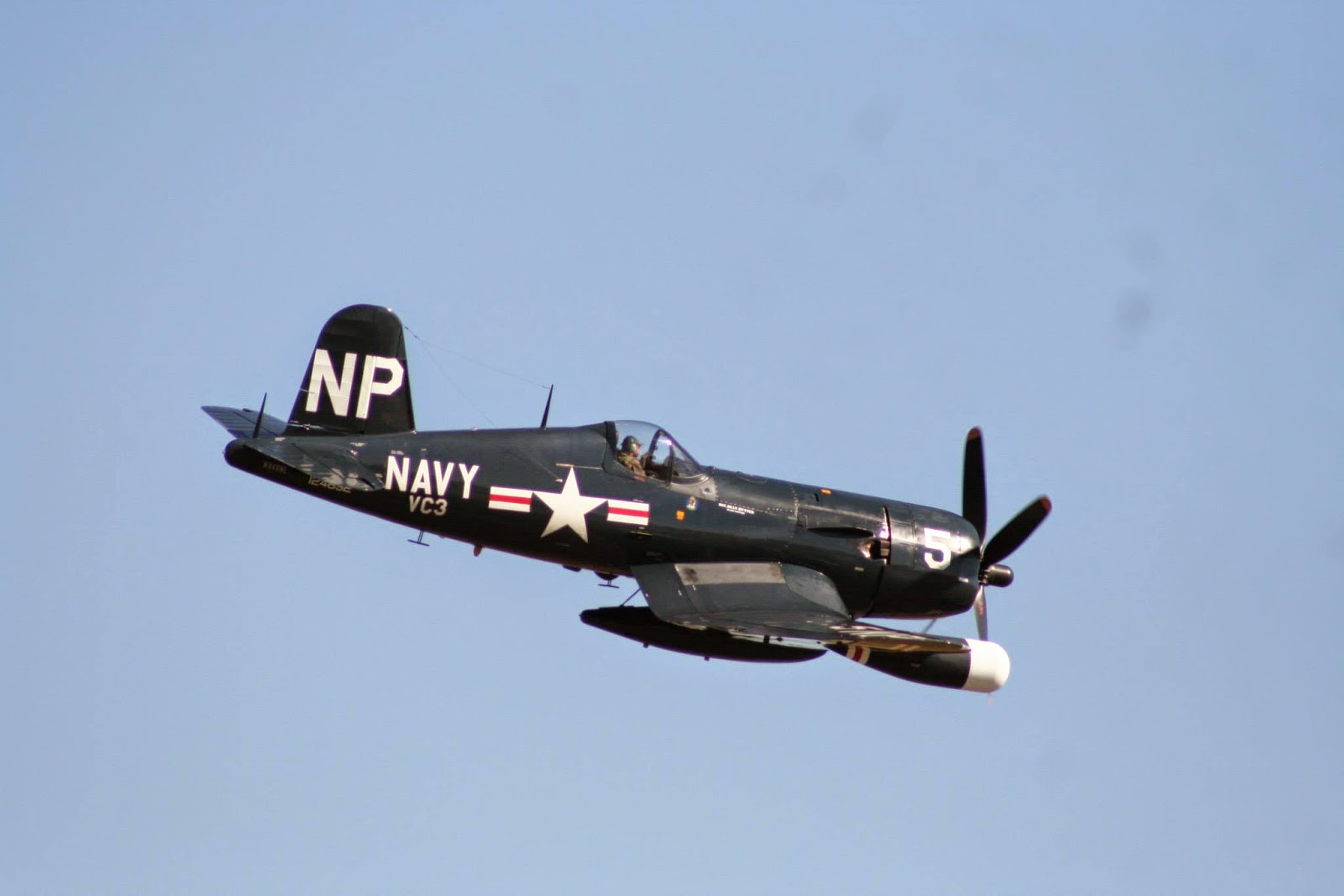 Dan McCue in F4U Corsair