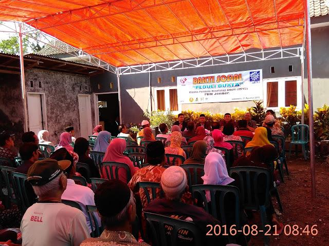 Pembukaan Acara Pengobatan Gratis Dhuafa Lazismu Jember