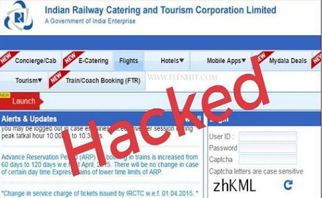 IRCTC website hacked, railway ticket booking