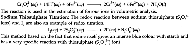 Redox Reactions as the Basis for Titration