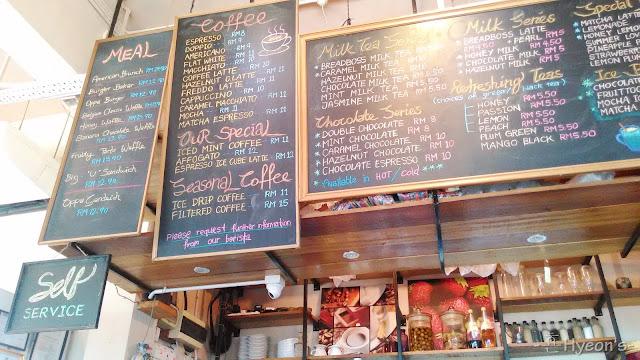 High Tea @ Breadboss Bakery Cafe; Menu Board