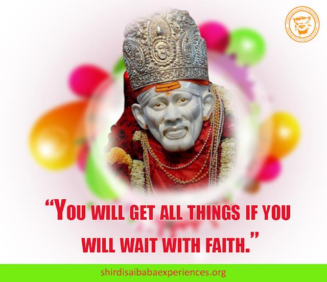 Shirdi Sai Baba Blessings - Experiences Part 2822