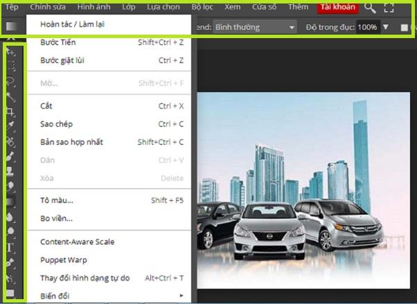 Photoshop Online Web   Công cụ chỉnh sửa ảnh trực tuyến miễn phí d