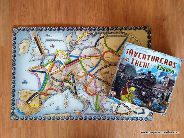 aventureros al tren, juego de mesa sobre viajes