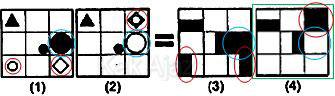 Pembahasan Soal Figural No. 37 TKPA SBMPTN 2015 Kode Naskah 602, pola gambar: penggabungnan dan inversi warna objek
