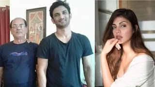 Sushant singh rajput father k k singh and rhea chakrvorty