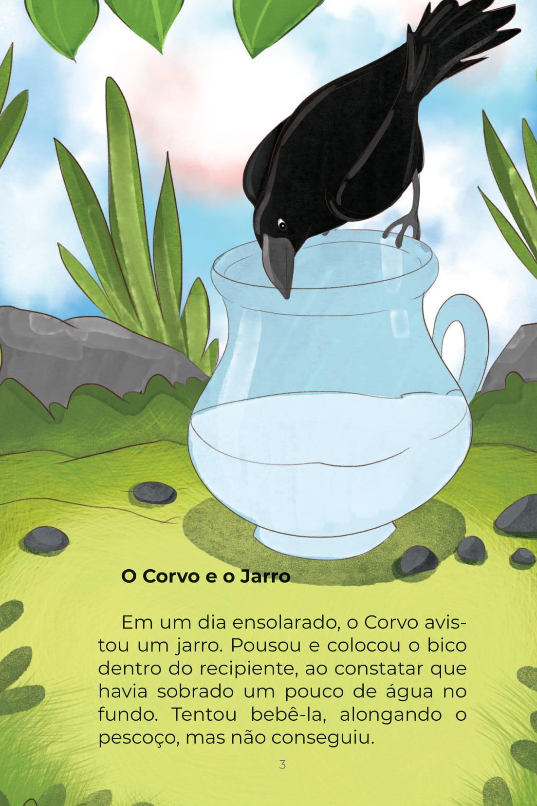 História O Corvo e o Jarro e Outras Histórias (Conta Pra Mim); Imprimir PDF Grátis