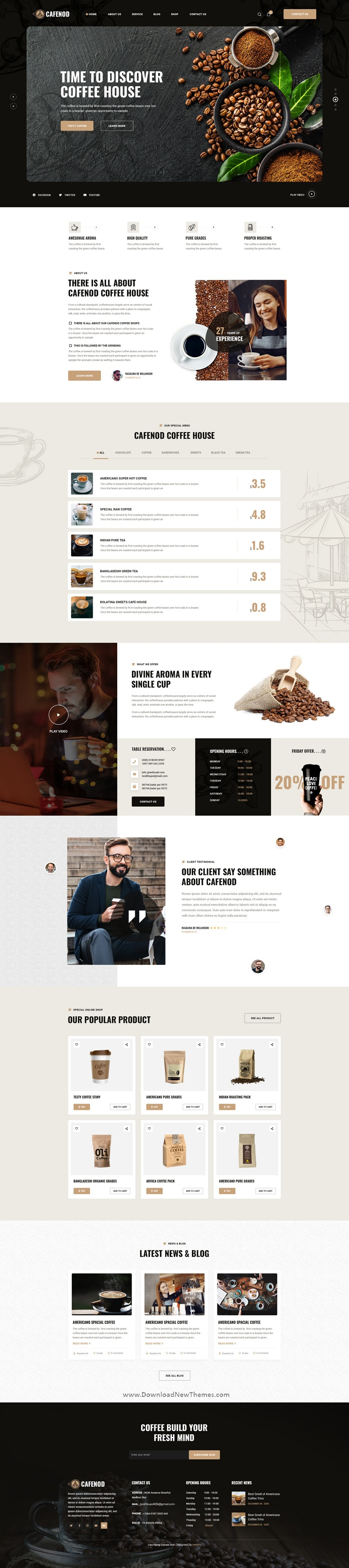 Coffee Shop Photoshop Template