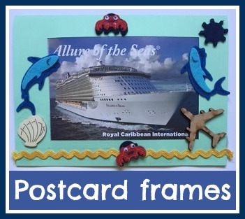 Frames for holiday and vacation postcards