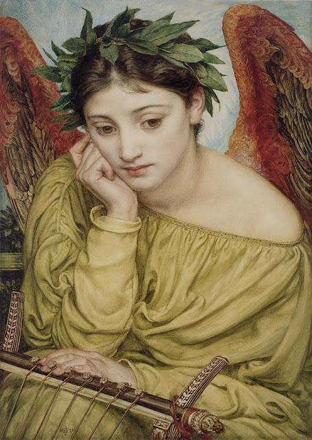 Erato musa de la poesía. Sir Edward John Poynter (1870)