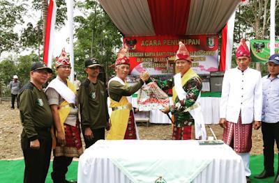 Bupati Pringsewu Tutup Karya Bakti TNI Tahun 2019