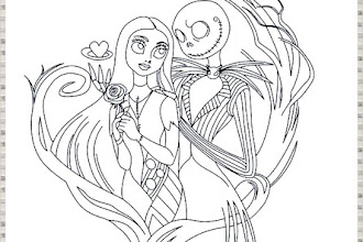 Free Printables: Nightmare Before Christmas Coloring Pages ... | 220x330