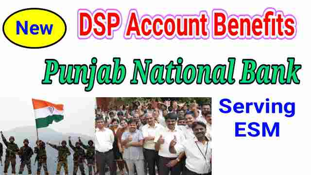 PNB DSP Account Benefits for Defence Employees