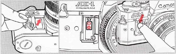 Canon AE-1 Program, Installing the battery