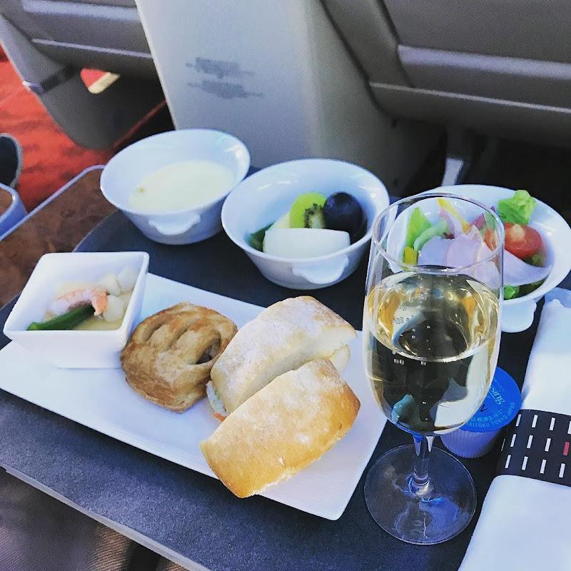 2017年9月下旬:JAL901(JL901) 東京・羽田=沖縄 国内線ファーストクラス搭乗時の機内食内容