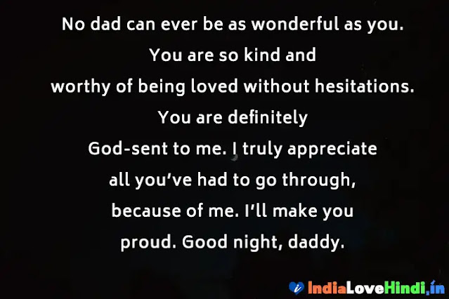 good night status for dad father