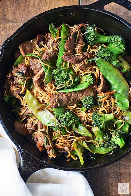 Beef Stir Fry with Noodles | Life Tastes Good