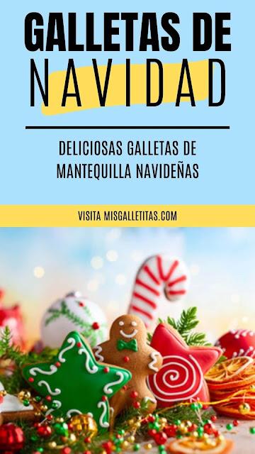 receta de galletas de mantequilla navideñas