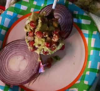 picture of pomegranate relish avocado