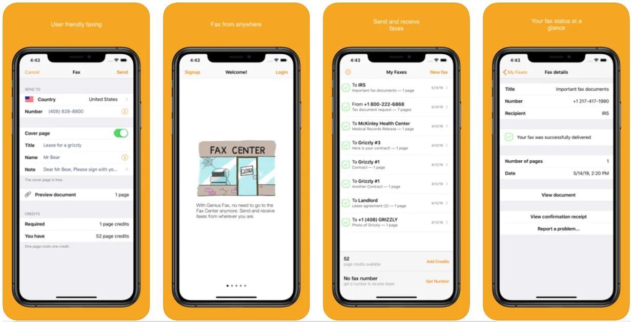 Genius Fax – Best Fax App for iPhone