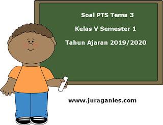 Contoh Soal PTS / UTS Tema 3 Kelas 5 Semester 1 K13 Tahun 2019/2020