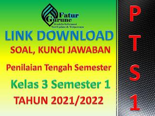 Download Soal dan Kunci Jawaban PTS K13 Kelas 3 SD/MI Semester 1 Subtema 1,2,3 dan 4 tahun pelajaran 2021/2022