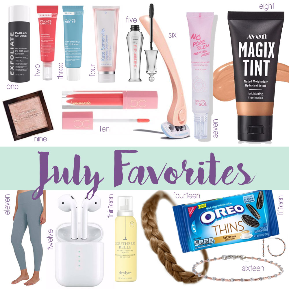 blogger Amanda Martin's favorite items from July 2019