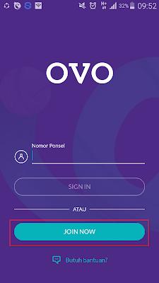 Daftar Akun OVO Cash dari Android