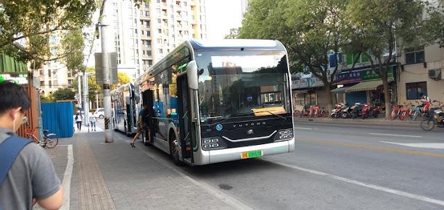 上海のEVバス
