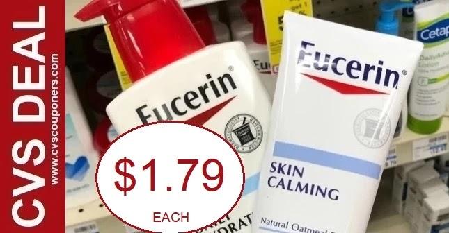 Eucerin Lotion & Calming Cream CVS Deals
