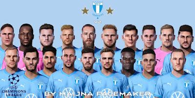 PES 2021 Malmö FF FacePack V2 by Maijna Facemaker