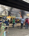 HAPPENING NOW: Hoodlums Set Police Station Ablaze In Lagos State