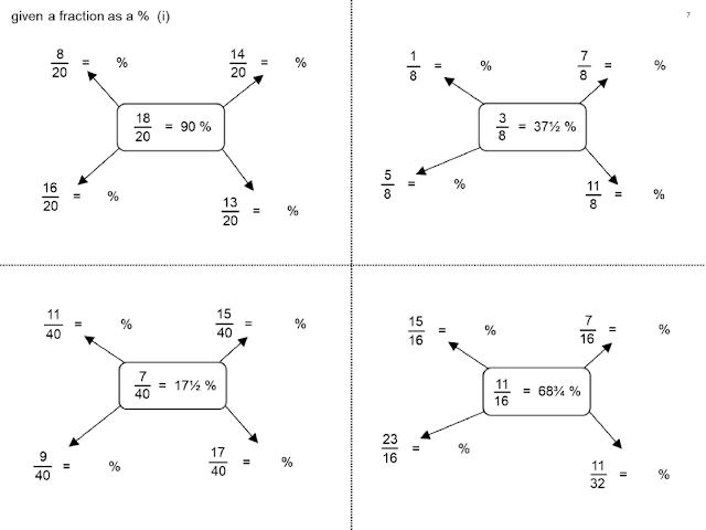 以一已知分數百分比計算其他 given a fraction a percentage (2)