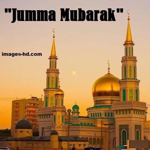 Golden mosque on jumma mubarak