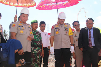 Kapolda NTB hadiri Peletakan Batu Pertama Pembangunan Polres Lotara