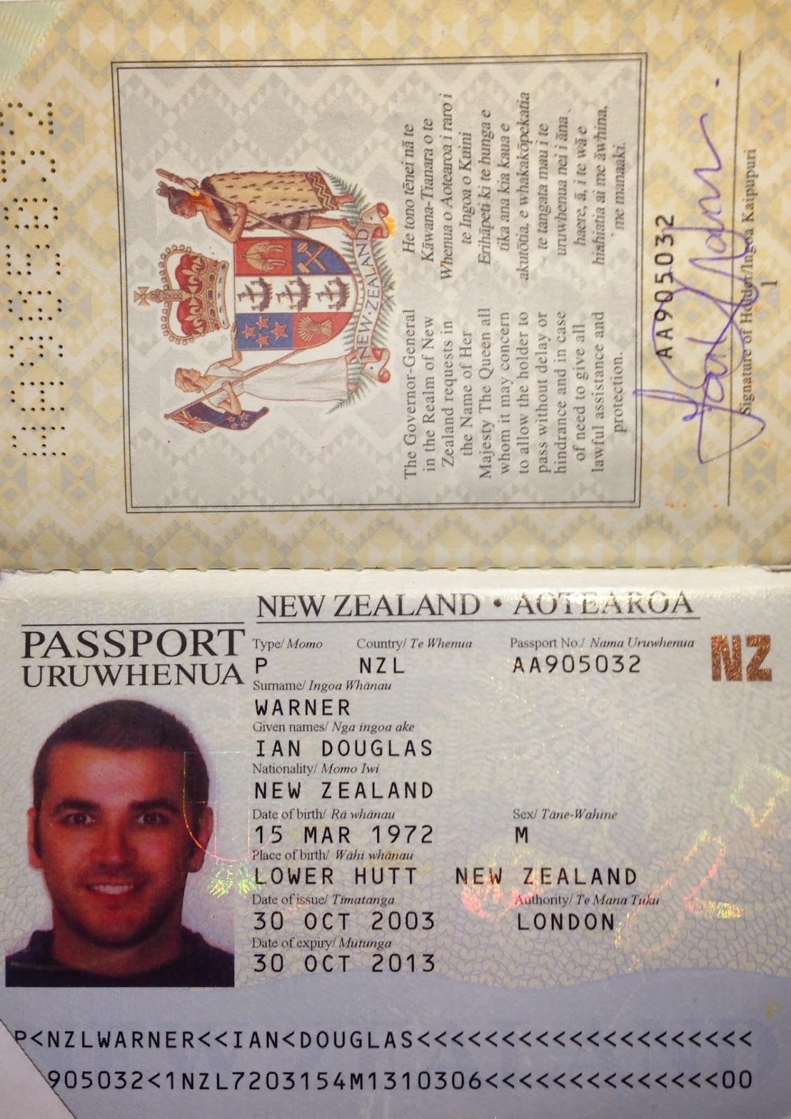 THE TATTERED PASSPORT: Passports