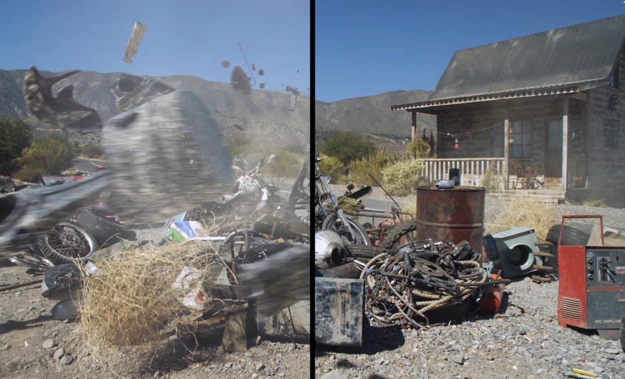 A campanha foi filmada em um deserto e teve seu cenário - uma casa e um  ferro-velho - montado exclusivamente para as gravações. 0dac7196f02b5