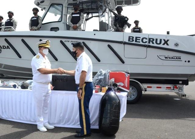 Armada incorpora nueva Lancha interceptora  para reforzamiento de la seguridad marítima