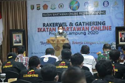 Gubernur Lampung Buka Rakerwil Ikatan Wartawan Online Lampung 2020
