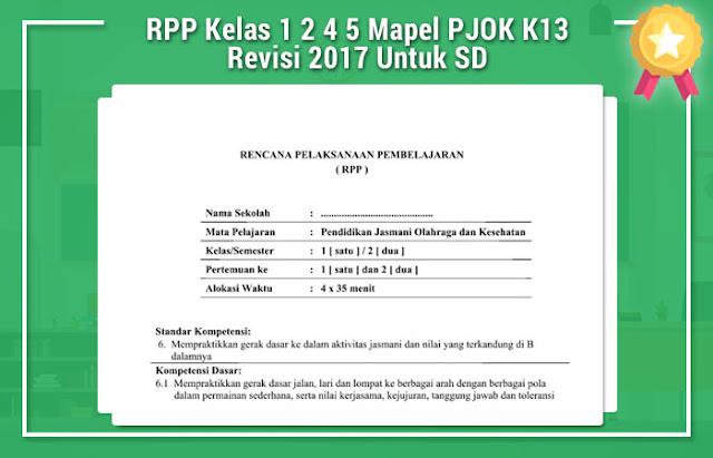 RPP Kelas 1 2 4 5 Mapel PJOK K13 Revisi 2017 Untuk SD