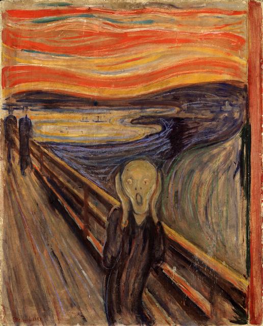 El grito, The Scream by Edvard Munch, 1893 - Nasjonalgalleriet